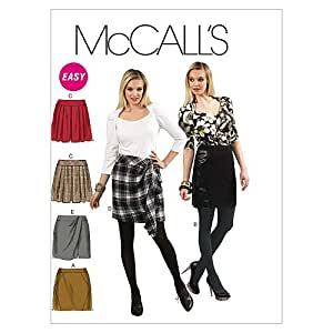 McCall's Patterns m6402 Tailles non doublé et jupes, Taille AAX (4–6-8–10)