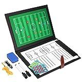 GHB Cartella Tattica Calcio Kit Allenatore di Calcio Lavagna Calcio per Organizzazione Giocatori Tattiche e Strategie - Nero