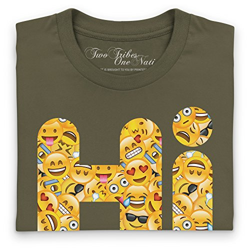 Official Two Tribes Emoji - Hi T-Shirt, Herren Olivgrn