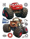 1art1 75263 Cars - Toon, Monster Truck Hook Und Lightning McQueen Wand-Tattoo Aufkleber Poster-Sticker 85 x 65 cm