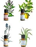 Huiles essentielles BIO - Kit aromathérapie - Lot de 4 flacons