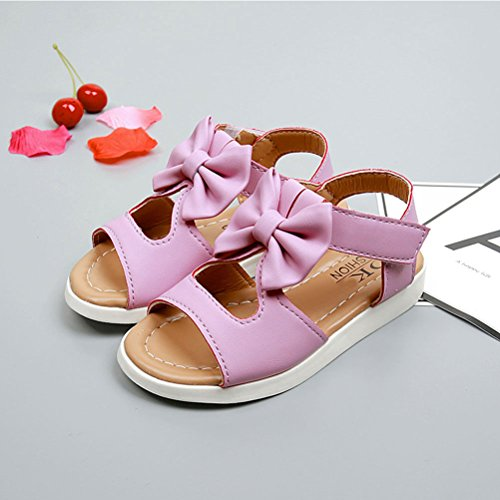 Zhhlaixing Shoes Bow Boys Kids Purple Toddler tie Shoes Summer Sandals Baby knot v4rvqx1w7