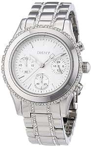 DKNY Damen-Armbanduhr Chronograph Quarz Edelstahl NY8706