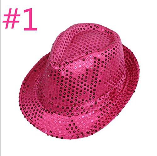 eiden Neue Führte Sieben Farben Leuchtende Pailletten - Cowboy - Hut Hut Hut (Jazz Führte Pailletten - Leuchten auf zufällig Farbe) (Neue Flash Kostüm)