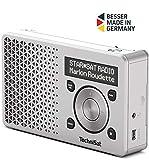 TechniSat Digitradio 1 tragbares DAB Radio mit Akku (DAB+, UKW, FM, Lautsprecher, Kopfhörer-Anschluss, Favoritenspeicher, OLED-Display, klein, 1 Watt RMS) silber -