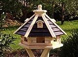 holzdekoladen Casetta per uccelli Casa per gli uccelli di legno Tipo 21 - Marrone, Senza piedi