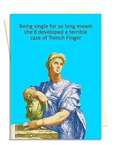 Trench Finger - Bawdy Banter - Geburtstagskarte für Ehefrau, Ehemann, Partner, Freund, Freundin, Rude Vintage Freundin für Sie Vintage Trench