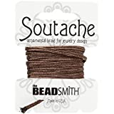 Beadsmith soutache rayón cable–BRONCE metálico 3m