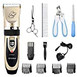 Sminiker Cordless Pet Grooming Clippers - Professional Pet Hair Clippers Detachable Blade