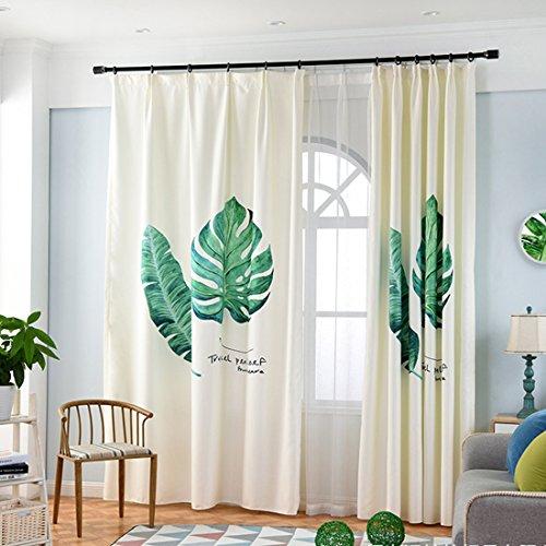 Gwell tende per cameretta bambini tenda cotone e lino tenda con occhielli tenda decorativa per soggiorno camera da letto della confezione singola 245x140 (hxb), stück x1 blatt motiv