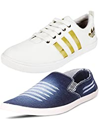 Jabra Perfect Combo Of 2 Shoes- Sneakers And Loafers In Various Sizes - B06XVH5LB3