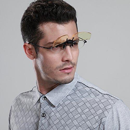 DUCO Computer Gamer Brille Clip On Flip-up Gläser Blaulicht Filter UV Sperrfilter Linderung Digitaler Augenbelastung mit Blendschutz 8012 - 3
