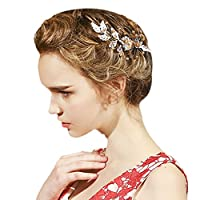 YAZILIND Bridal Hair Pins Alloy Flowers Wedding Hair Accessories Party for Women and Girls