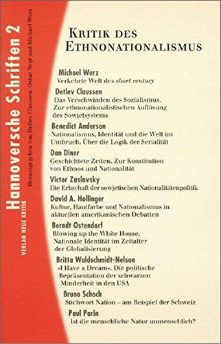 Kritik des Ethnonationalismus (Hannoversche Schriften 2)