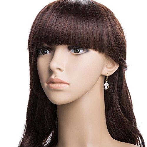 YAZILIND 18K Or Elégant Plaqué zircon Boucles d'oreilles Dangle Boucles d'oreilles Charme pour les femmes blanc