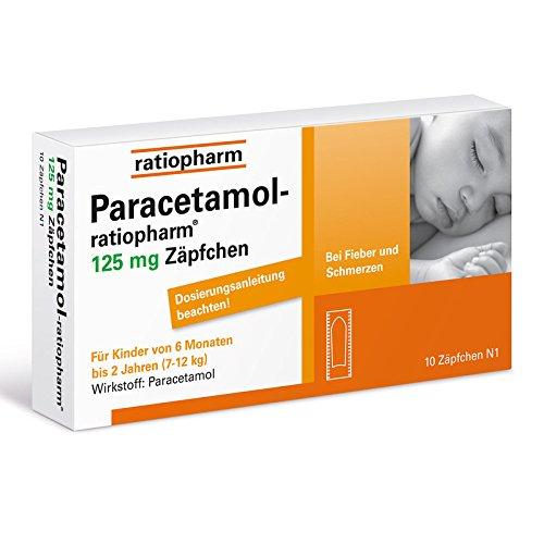 PARACETAMOL ratiopharm 125 mg Sgl.-Suppositorien 10 St