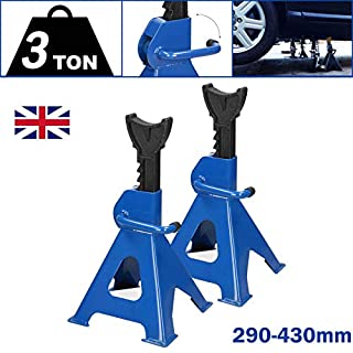 Autofather 3 Tonne Axle Stands for Cars Quick Release Ratchet Adjustment Lifting 11.4in to 17in Heavy Duty Tool, Set of 2