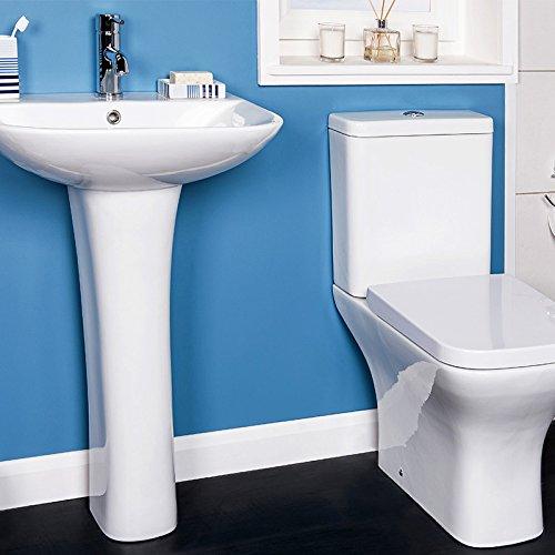 Toilette Stand WC Set Keramik + Spülkasten + Waschtisch ...