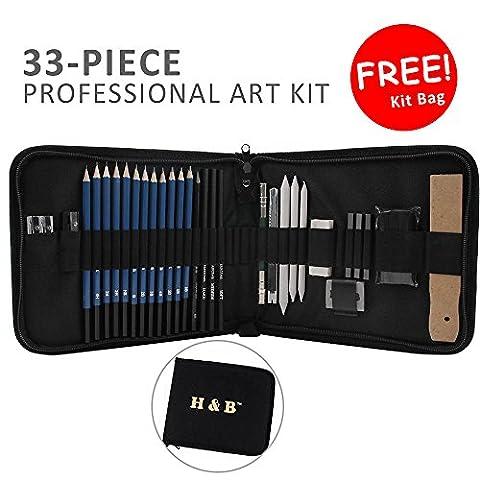 npet 33Art Supplies Zeichnen und Skizzieren Pencil komplett Kunst-Set