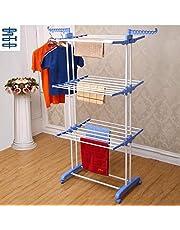 Kumaka Heavy Duty Double Pole Upto 40kg Capacity Cloth Dryer Stand