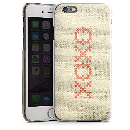 Apple iPhone 4 Housse Étui Silicone Coque Protection Bisou je t'aime Phrase Hugs Kisses Motif CasDur transparent