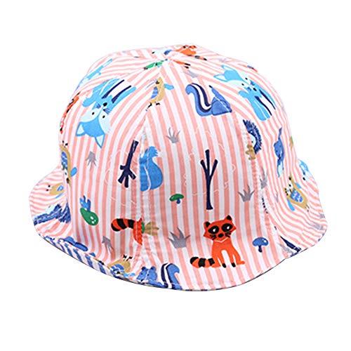 GAOXUQIANG Kleinkind Baby Mütze Cap Kinder Animal Print Sun Bonnet Kinder Hut Helm Cap,4,M -