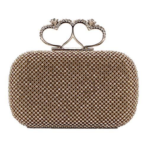 Deaman Herz-Muster Handtasche Damen Henkeltasche Hochwertig Abendtasche Abschlussbal Clutch Einfach Handbag Abschlussbal