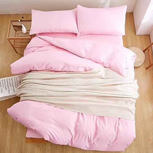 Kevin bin casa tessile tinta unita 4 pz bedding set microfibra lenzuola letto rosa lenzuola set copripiumino e federa copertura bed sheet ragazze