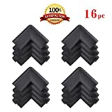 BLUBOON(TM) 12pcs Thick Baby Safety Softener Table Edge Guard Protector (Black) by BLUBOON