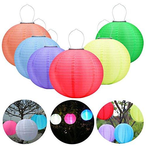 Solar Laterne Im Freien Wasserdichte SSLW Solar Hängelampe LED Hängenden Laterne Chinesischen Stil Feier Lampe Weihnachten , orange -
