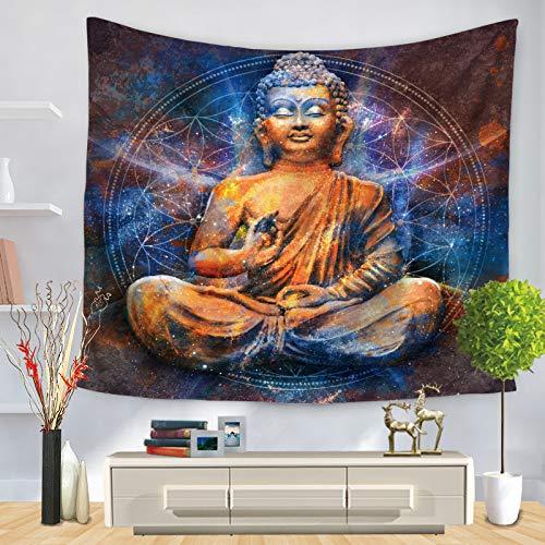 Jzxjzx Tapiz de Buda Tapiz Decorativo 2 75 * 90