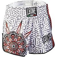 Leone 1947 AB761 Pantalones Cortos de Kick-Thai, Unisex – Adulto, Blanco, S