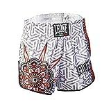 LEONE 1947 (LEORC) Mandala, Pantaloncino Kick-Thai Unisex – Adulto, Bianco, S