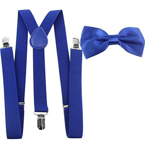 HBF mehrfarbig elastisch Hosenträger Y-Form Länge für Damen und Herren mit den starken Clips Playshoes und Fliege in verschiedenen Designs (8)
