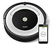 iRobot Roomba 691 - Robot aspirador (potente sistema de limpieza con sensores de suciedad Dirt Detect, aspira alfombras y suelos duros, atrapa el pelo de mascotas, conectividad WiFi), color plata