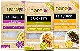Produkt-Bild: norojo  geruchlose  Shirataki Nudeln Probierpaket - Spaghetti, Tagliatelle & Reis Art, 1er Pack (3 x 250gr)