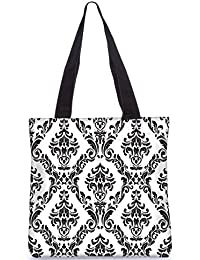 Snoogg Indian Pattern Poly Canvas Fashion Handbag Shopping Shoulder Lunch Tote Bag For Women 22745