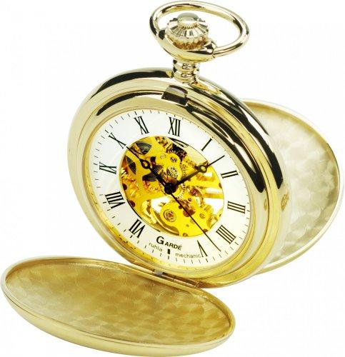 Gardé Mechanik Reloj de bolsillo para hombres La carcasa se abre con una sola pulsación del botón