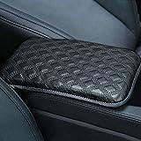 Voiture Accoudoirs Coque Pad, PU Cuir Console Centrale Box Coussin universel véhicule de protection d'oreiller Accoudoir pour moteurs de voiture auto véhicule (Noir)