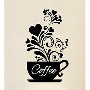 Arte muraria Amore tazze da tè Cucina parete del caffè del vinile della decalcomania Ristorante Pub grafica murali Decor lettering