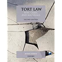 Tort Law: Text, Cases, and Materials by Jenny Steele (2010-04-29)
