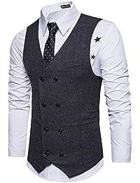 Amazon.it  doppiopetto uomo - Gilet   Abiti e giacche  Abbigliamento accdec1fcd1