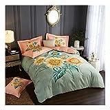 CSYPYLE Bettwäsche-Sets Schöne Pflanzen Große Blumenmuster Komfortable Weiche Bettlaken Kissenbezug Bettwäsche-Set, 2,0 Mt