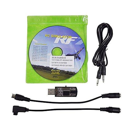 0in1 Flugsimulator Kabel / USB Dongle für RC Hubschrauber Flugzeug Auto ()