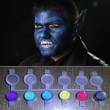 HJLWST® volto dipinge luce perla magica brillanti colori pigmento halloween