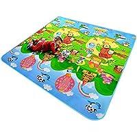 Baby 2Côté Tapis de jeu enfant d'activité en mousse de sol souple Kid Eductaional jouet Cadeau Gym Ramper–120x 180cm