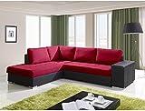 JUSThome Porto Sofá esquinero chaise longue Color : Rosa L8 Tamaño 88 x 212 x 280 cm