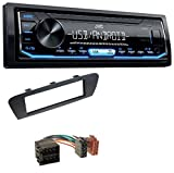 caraudio24 JVC KD-X151 1DIN USB Aux MP3 Autoradio für Renault Scenic (ab 09) Braun
