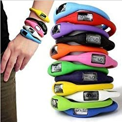Sports Digital Silicone Rubber Jelly Anion Bracelet Wrist Watch Unisex