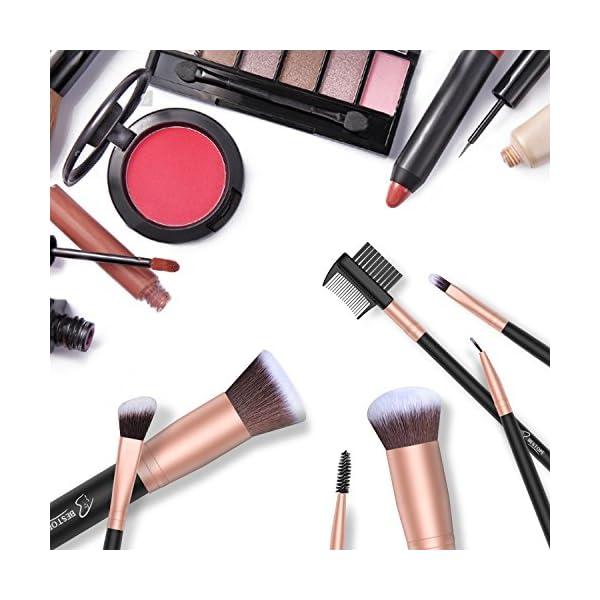 Set de brochas de maquillaje profesional BESTOPE 16 piezas Pinceles de maquillaje Set Premium Synthetic Foundation Brush…